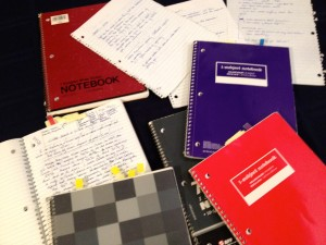messy notebooks